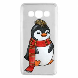 Чохол для Samsung A3 2015 Baby penguin with a scarf