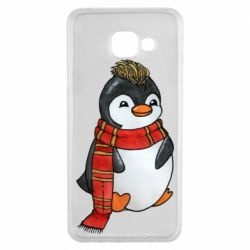 Чохол для Samsung A3 2016 Baby penguin with a scarf