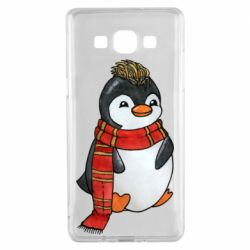 Чохол для Samsung A5 2015 Baby penguin with a scarf