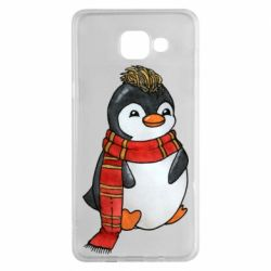 Чохол для Samsung A5 2016 Baby penguin with a scarf