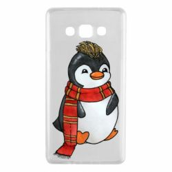 Чохол для Samsung A7 2015 Baby penguin with a scarf