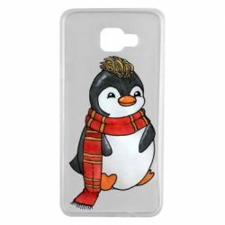 Чохол для Samsung A7 2016 Baby penguin with a scarf