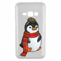 Чохол для Samsung J1 2016 Baby penguin with a scarf