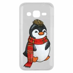 Чохол для Samsung J2 2015 Baby penguin with a scarf