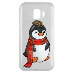Чохол для Samsung J2 2018 Baby penguin with a scarf