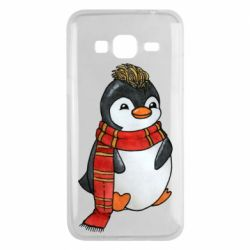 Чохол для Samsung J3 2016 Baby penguin with a scarf