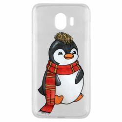 Чохол для Samsung J4 Baby penguin with a scarf