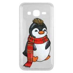 Чохол для Samsung J5 2015 Baby penguin with a scarf