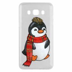 Чохол для Samsung J5 2016 Baby penguin with a scarf