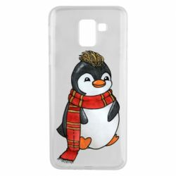 Чохол для Samsung J6 Baby penguin with a scarf