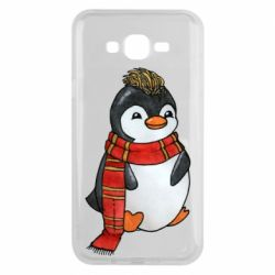 Чохол для Samsung J7 2015 Baby penguin with a scarf
