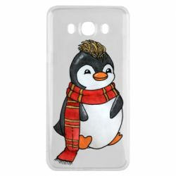 Чохол для Samsung J7 2016 Baby penguin with a scarf