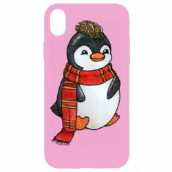 Чохол для iPhone XR Baby penguin with a scarf