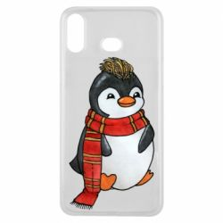 Чохол для Samsung A6s Baby penguin with a scarf