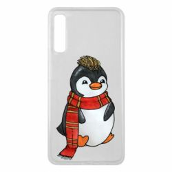 Чохол для Samsung A7 2018 Baby penguin with a scarf