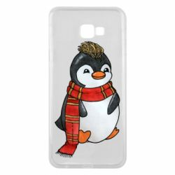 Чохол для Samsung J4 Plus 2018 Baby penguin with a scarf