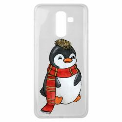 Чохол для Samsung J8 2018 Baby penguin with a scarf