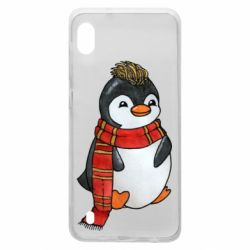 Чохол для Samsung A10 Baby penguin with a scarf