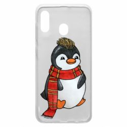 Чохол для Samsung A30 Baby penguin with a scarf