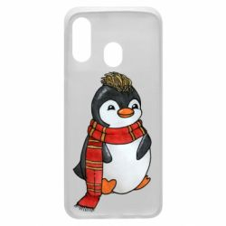 Чохол для Samsung A40 Baby penguin with a scarf