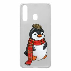 Чохол для Samsung A60 Baby penguin with a scarf