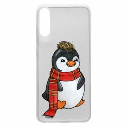 Чохол для Samsung A70 Baby penguin with a scarf