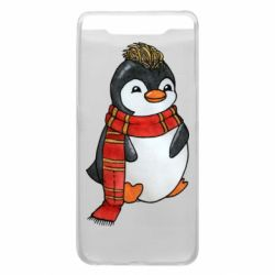 Чохол для Samsung A80 Baby penguin with a scarf