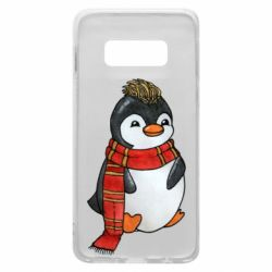 Чохол для Samsung S10e Baby penguin with a scarf