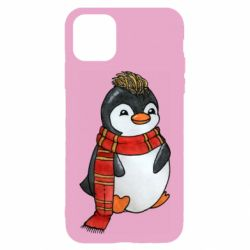 Чохол для iPhone 11 Baby penguin with a scarf