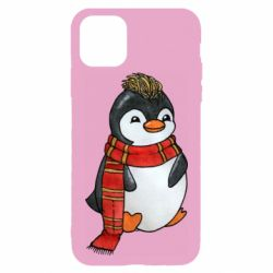 Чохол для iPhone 11 Pro Max Baby penguin with a scarf