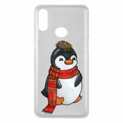 Чохол для Samsung A10s Baby penguin with a scarf