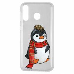 Чохол для Samsung M30 Baby penguin with a scarf
