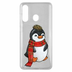 Чохол для Samsung M40 Baby penguin with a scarf