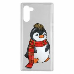 Чохол для Samsung Note 10 Baby penguin with a scarf