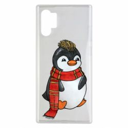 Чохол для Samsung Note 10 Plus Baby penguin with a scarf