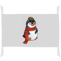 Прапор Baby penguin with a scarf