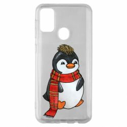 Чохол для Samsung M30s Baby penguin with a scarf