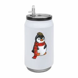 Термобанка 350ml Baby penguin with a scarf