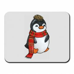 Килимок для миші Baby penguin with a scarf