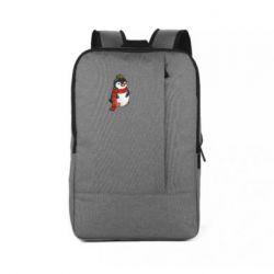 Рюкзак для ноутбука Baby penguin with a scarf