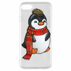 Чохол для iPhone 7 Baby penguin with a scarf