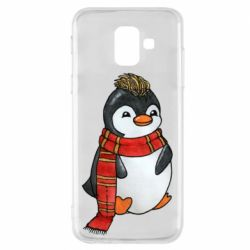 Чохол для Samsung A6 2018 Baby penguin with a scarf