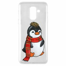 Чохол для Samsung A6+ 2018 Baby penguin with a scarf
