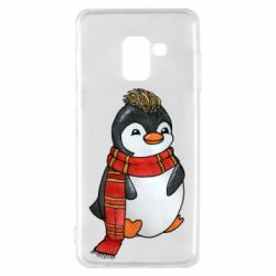 Чохол для Samsung A8 2018 Baby penguin with a scarf