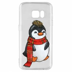 Чохол для Samsung S7 Baby penguin with a scarf
