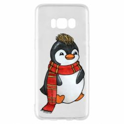 Чохол для Samsung S8 Baby penguin with a scarf