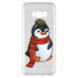 Чохол для Samsung S8+ Baby penguin with a scarf