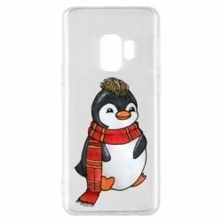 Чохол для Samsung S9 Baby penguin with a scarf