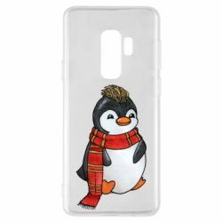 Чохол для Samsung S9+ Baby penguin with a scarf