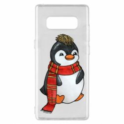 Чохол для Samsung Note 8 Baby penguin with a scarf